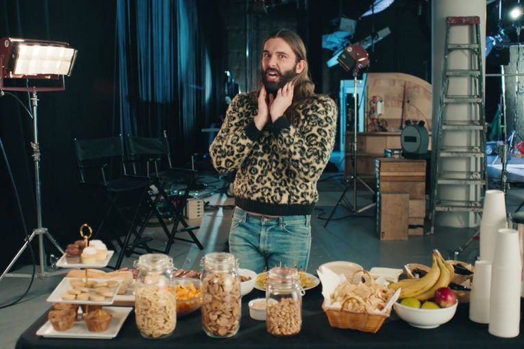 Jonathan Van Ness freaks out over craft services selection in Pop-Tarts' Super Bowl teaser