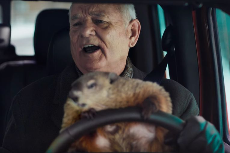 Watch Bill Murray reprise his role in 'Groundhog Day' for Jeep's Super Bowl ad