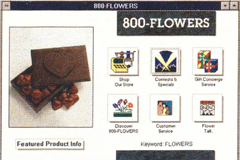 1-800-Flowers' Valentine's card from 25 years ago
