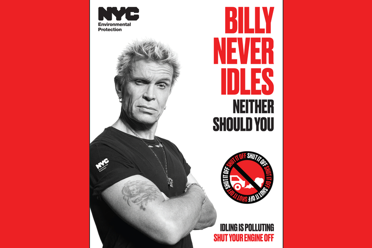 Billy Idol wants New Yorkers to stop idling their cars in citywide campaign