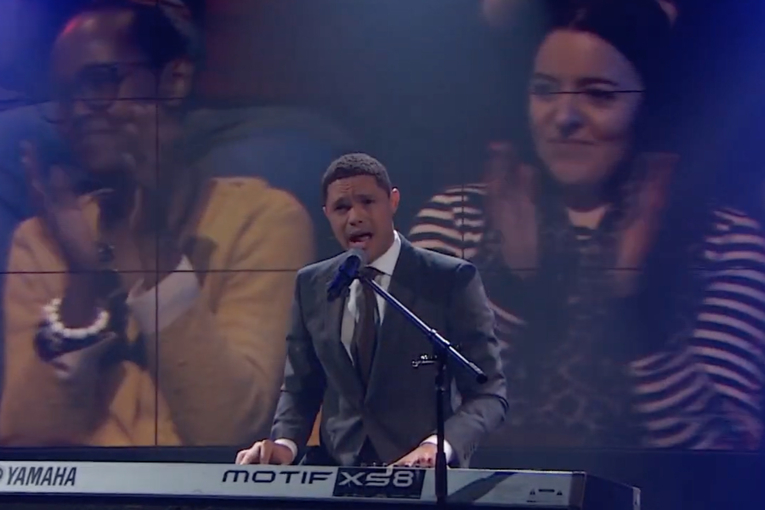 Watch Trevor Noah's love song to live audiences (before he goes audience-free)