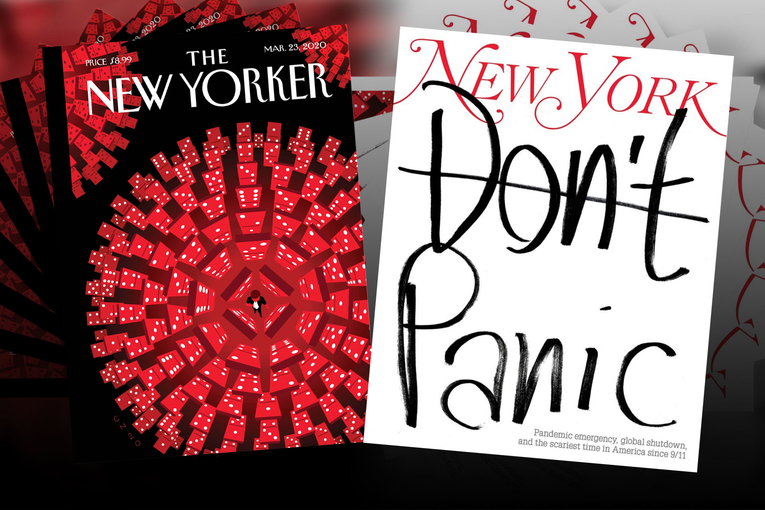 The New Yorker and NYMag covers subtly, and unsubtly, nail life during a pandemic