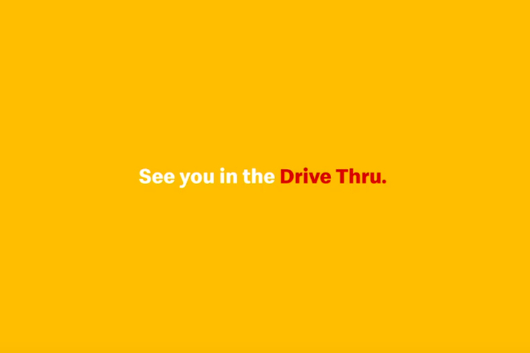 McDonald's typography-driven campaign reminds people of drive-thru and delivery during coronavirus