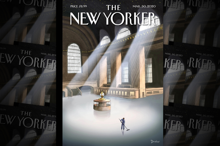 The New Yorker's latest cover depicts an eerie, abandoned Grand Central Terminal
