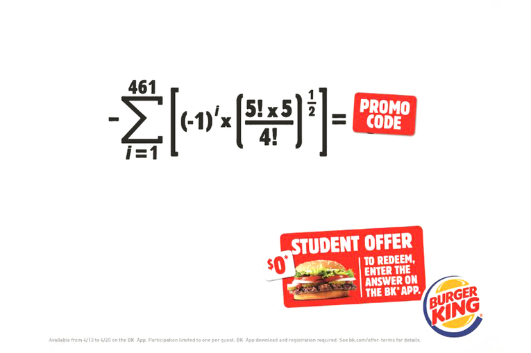 Burger King: Math for Whoppers