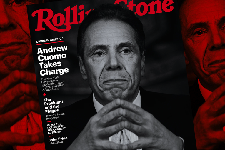 Andrew Cuomo fronts the May issue of Rolling Stone