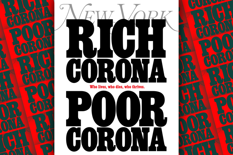 'Rich Corona, Poor Corona': NYmag offers a stark look at the economic politics of the pandemic
