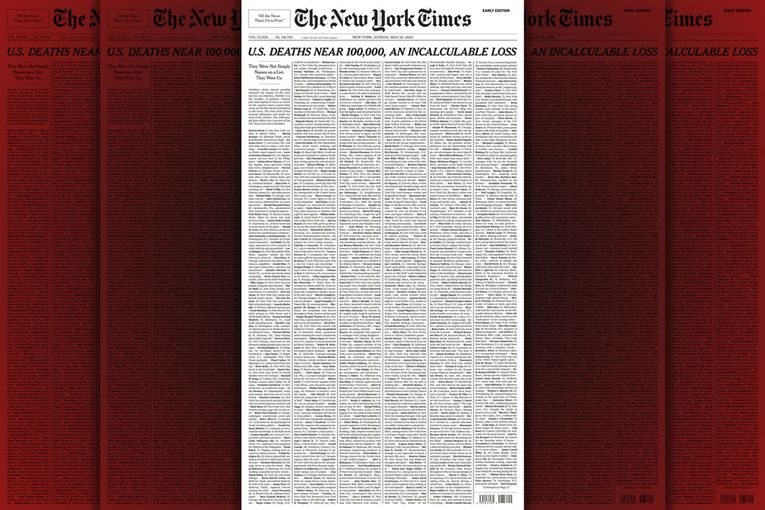 The New York Times: Names Front Page