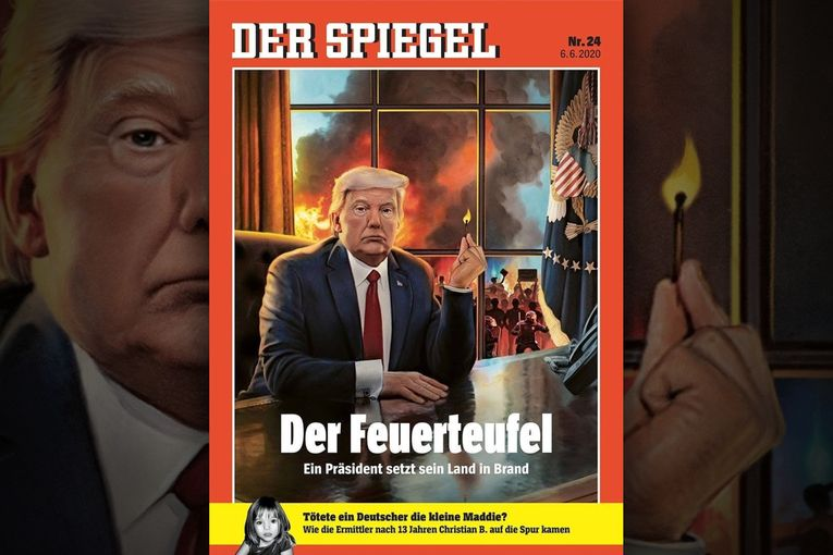 Germany's leading newsweekly decries Trump's incendiary approach
