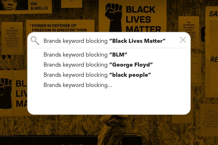 Keyword blocking hits Black Lives Matter content
