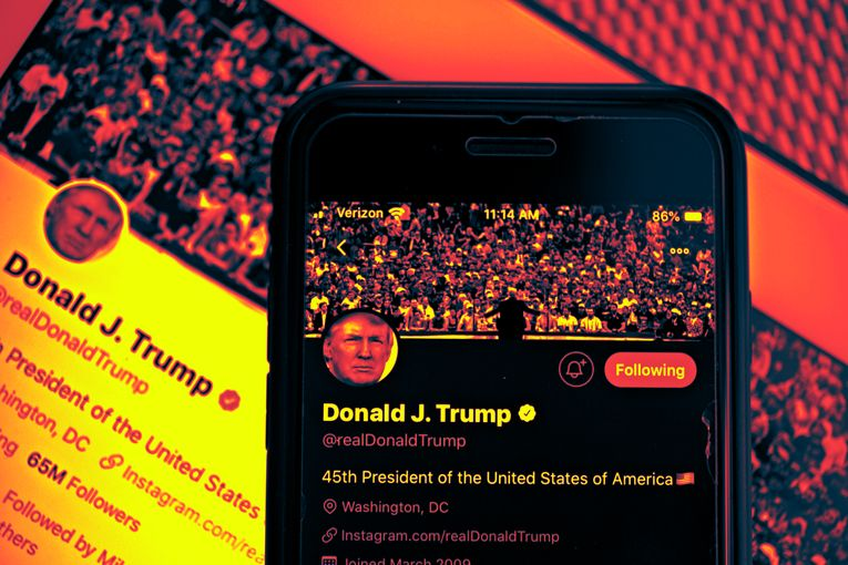 Twitter hides tweet in which Trump threatens to harm potential protesters