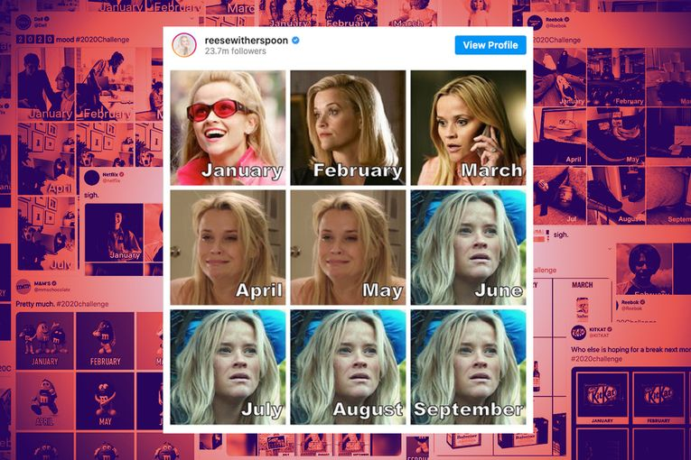 The 17 best brand responses so far to Reese Witherspoon's 2020 meme challenge