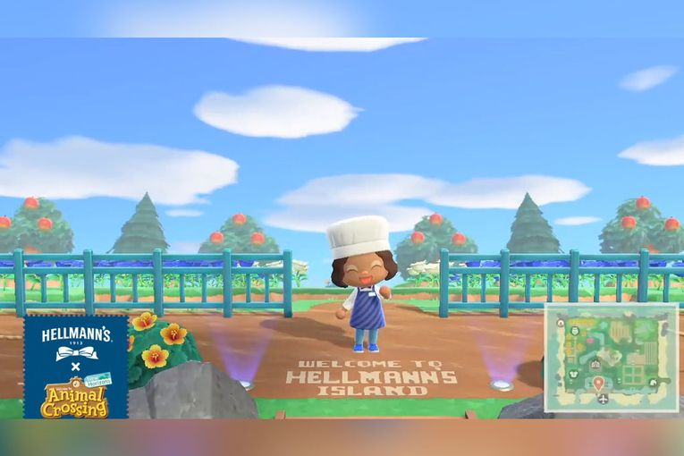 At Hellmann's 'Animal Crossing' island, players donate spoiled turnips to fund meals in real life