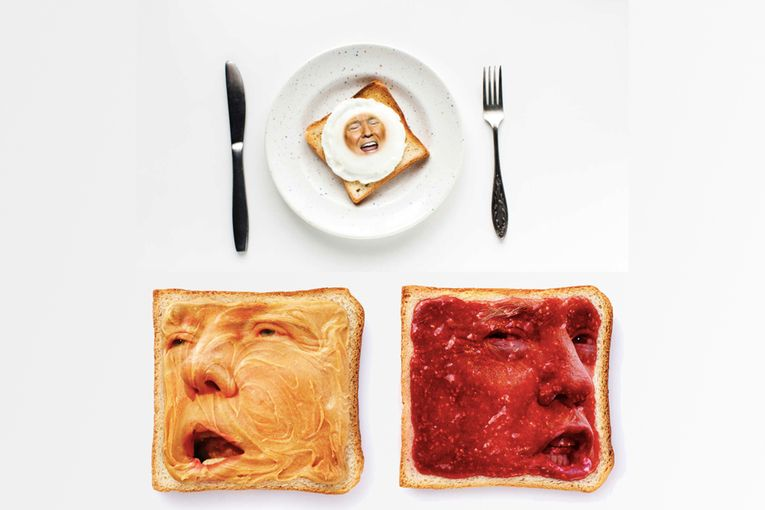 Playboy turned Trump into a whole buffet of breakfast foods