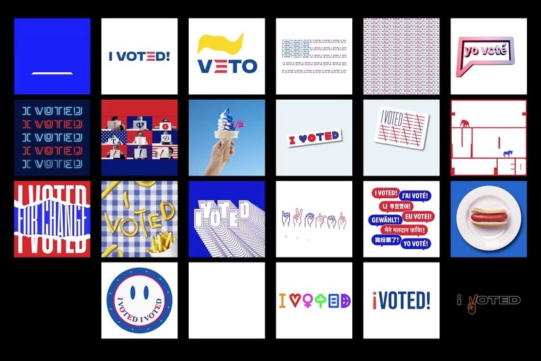 Siegel + Gale: I Voted Digital Stickers