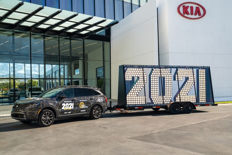 Kia to haul Times Square's '2021' across the U.S. in New Year's Eve marketing drive