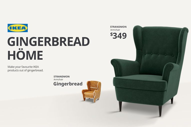Now you can create Ikea furniture for your gingerbread house