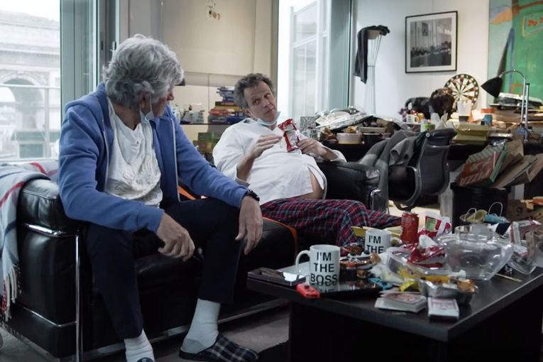 Arthur Sadoun binges potato chips with a COVID belly in Publicis' holiday video