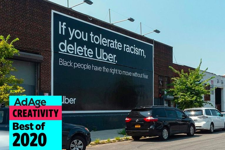 Best of 2020 No. 9: Uber tells racists to 'Delete Uber'