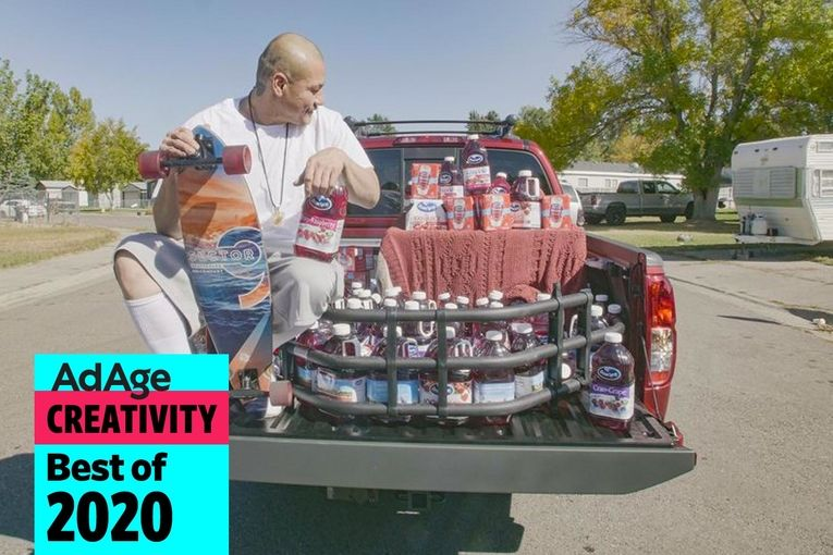 Best of 2020 No. 20: Ocean Spray seizes on longboarder's viral TikTok video and gifts him a truck and juice