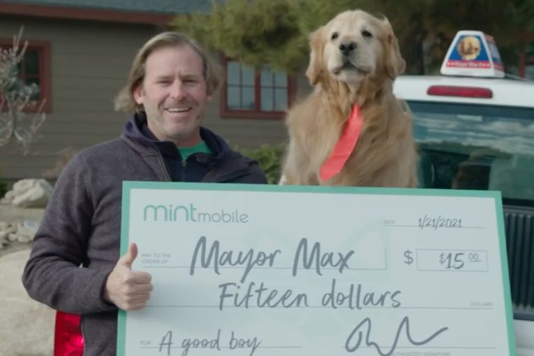 Ryan Reynolds funds a California mayor in latest from Mint Mobile