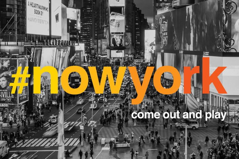 The '#NowYork' campaign aims to bring optimism back to New York City