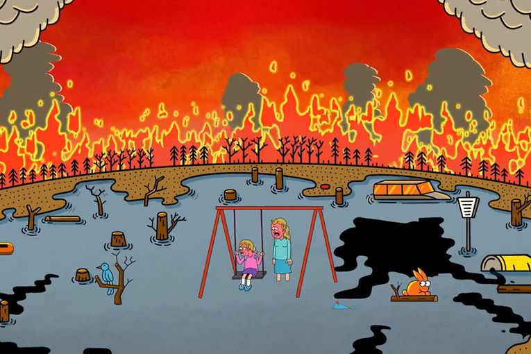 Plumbers, mechanics and other experts unite in an animated appeal for climate action from Joan