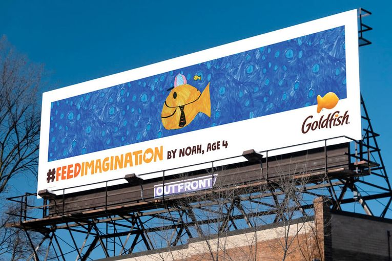 Kids' artwork becomes billboards in campaign for Goldfish Crackers