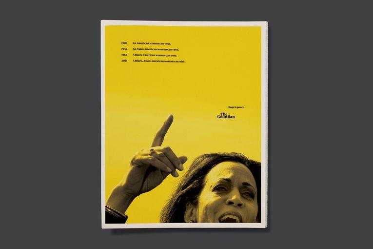 The Guardian celebrates Kamala Harris' achievement in full-page ad