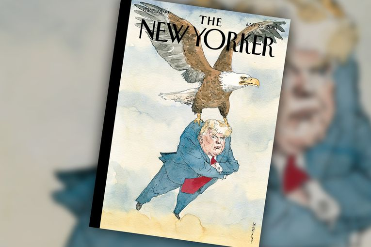 'A Weight Lifted': The New Yorker depicts Trump's exit