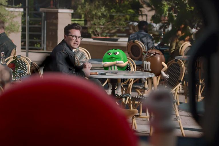 See M&M's as an everyday apology tool in its Super Bowl spot starring Dan Levy