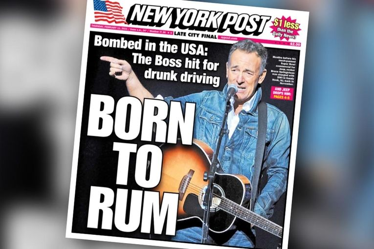 'Born to Rum': See the other Springsteen DWI cover lines the New York Post didn't use
