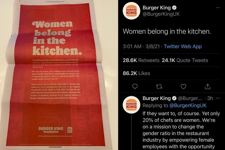 Burger King eats, then deletes, its words on International Women's Day: Tuesday Wake-Up Call