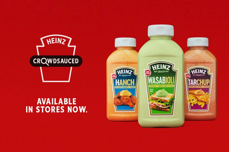 Kraft Heinz Canada 'crowdsauces' three new condiment mashups