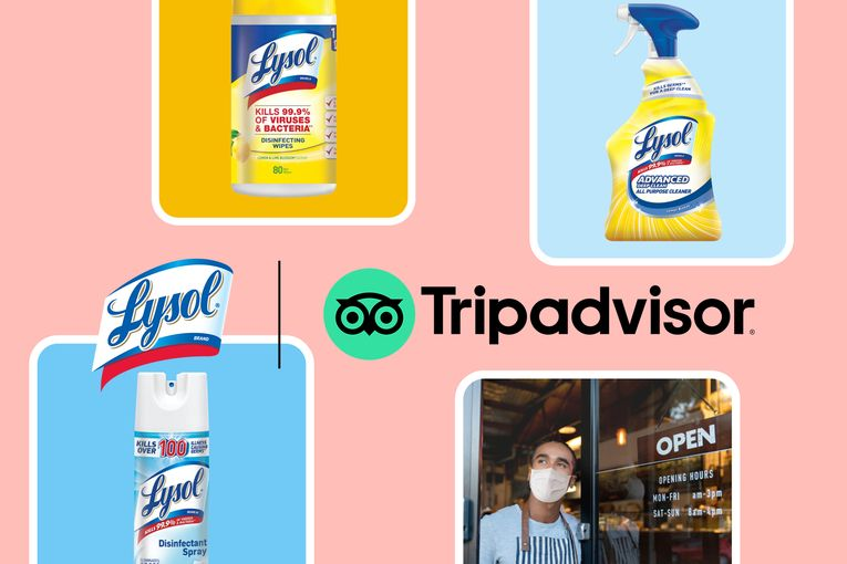 Tripadvisor teams up with Lysol to help entice travel booking