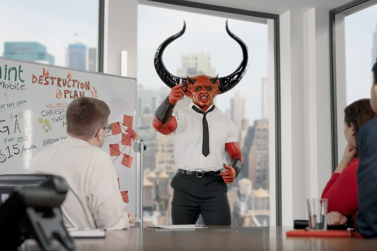 Ryan Reynolds brings back Match.com's Satan in a crossover event with Mint Mobile