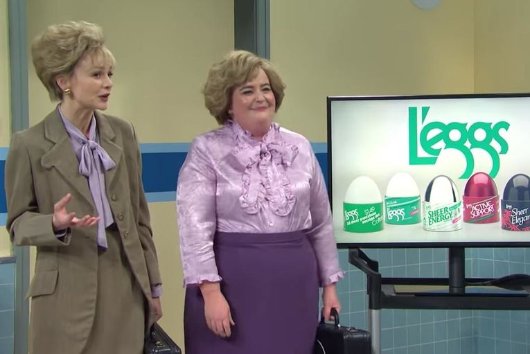 Watch 'SNL' hilariously try to market L'eggs pantyhose to Gen Z