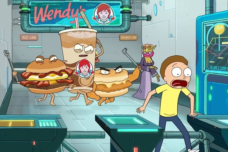 'Rick and Morty' Invade Wendy's with immersive pop-up