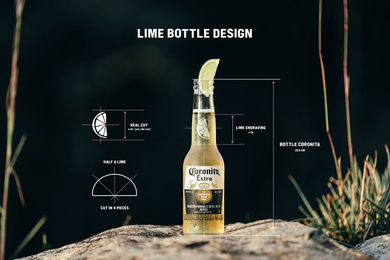 Corona honors the lime with a spot on its new bottle