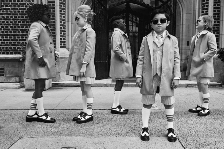 Alan Kim fronts Thom Browne's quirky ads reimagining the parent-child relationship