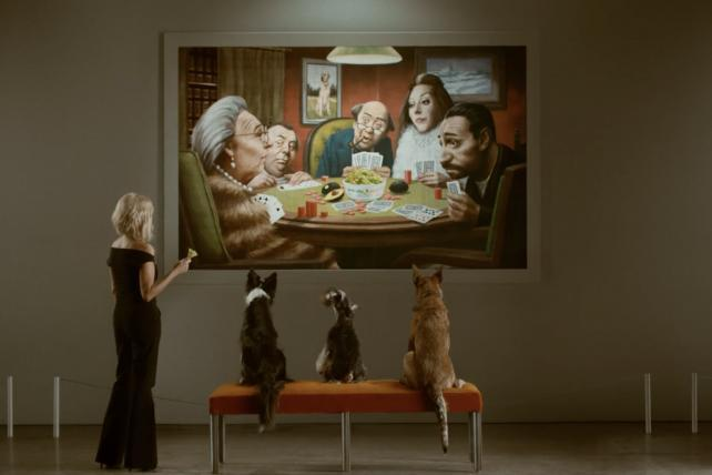 Kristin Chenoweth and dogs study art in second Avocados From Mexico teaser