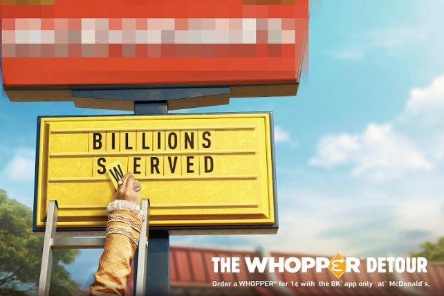 'Whopper Detour' wins Direct Grand Prix at Cannes Lions