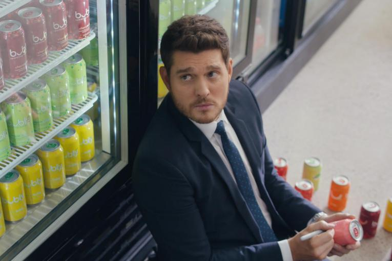Watch Michael Bublé star in Bubly's Super Bowl commercial