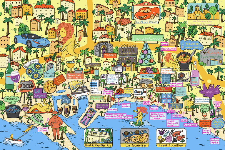 The official Ad Age map of Cannes
