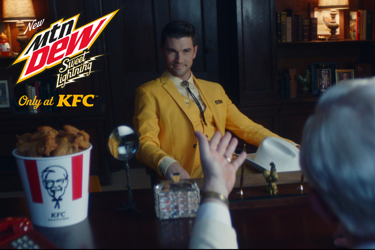 KFC debuts a customized Mtn Dew flavor, and it's peachy