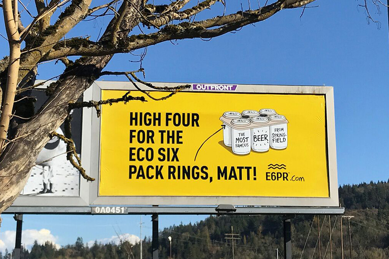 Eco Six Pack Rings: The Simpsons Anniversary campaign