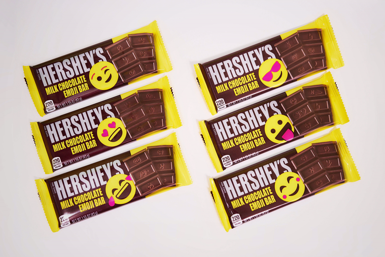 Hershey's summer chocolate bars feature emoji (Yes, even THAT emoji)