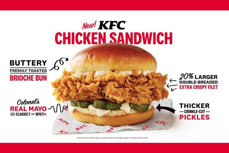 KFC is testing an upgraded fried chicken sandwich in Orlando