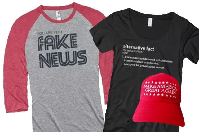 The Newseum comes under fire for selling MAGA and 'fake news' merch