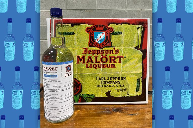 How Malört—a taste bud-killing classic Chicago shot drink—got into the hand sanitizer business
